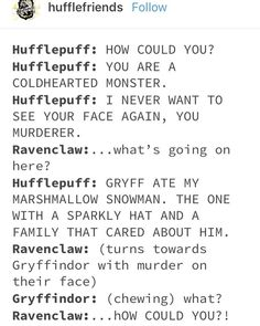 List of all hufflepuff and slytherin images and pictures. Browse latest and popular hufflepuff and slytherin ideas Harry Potter Puns, Harry Potter Universal, Harry Potter Hogwarts, Harry Potter World, Harry Potter Dialogues, Disney Hogwarts, Harry Potter Ships, Fandoms, Slytherin And Hufflepuff