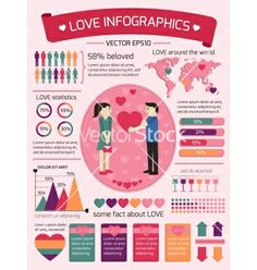 Love infographics elements vector - by macrovector on VectorStock®