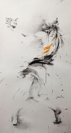 ewa hauton ink on paper Art illustration Renaissance Kunst, Italian Renaissance, Art Drawings Beautiful, Illustration Art Drawing, Art Background, Art Sketchbook, Oeuvre D'art, Creative Art, Sculpture Art