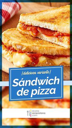Mozzarella, Tapas, Sandwiches, Recipes, Food, Pizza Sandwich, Breakfast, Food Recipes, Venezuelan Recipes