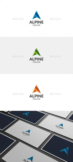 alpine letter a logo eps template climb hike download a https