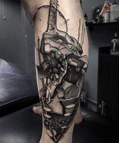 Eva 01 tattoo evangelion by Daniel rozo , tatuaje blackwork Manga Tattoo, Comic Tattoo, 1 Tattoo, Star Wars Tattoo, Tattoo Sketches, Tattoo Drawings, Body Art Tattoos, Sleeve Tattoos, Cool Tattoos