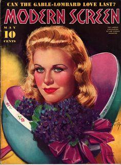 Ginger Rogers- Modern Screen Magazine, May 1939 Star Magazine, Movie Magazine, Vintage Movie Stars, Vintage Movies, Old Magazines, Vintage Magazines, Classic Hollywood, Old Hollywood, Hollywood Magazine