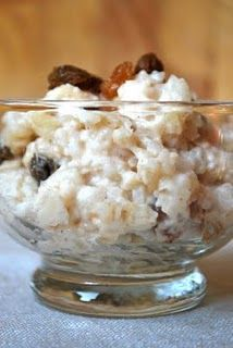 America's test kitchen rice pudding (no egg). if someone would make this for me right now, that would be great! =)
