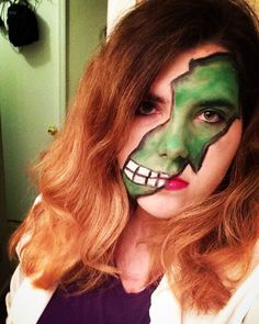 This was my 2015 Halloween makeup. My friends and I went as Avengers and I did…