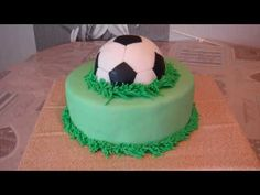 FC Barcelona Soccer Ball Cake by Cupcake Savvy's Kitchen - YouTube
