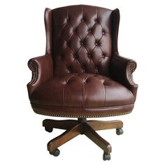 I have a squeaky, ill conceived, vinyl version of this beautiful chair.  Not the real thing. Cushman Office Chair