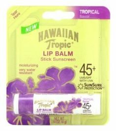Hawaiian Tropic Tropical Lip Balm SPF 45+ Sunscreen (Pack of 6) by Hawaiian Tropic. $17.69