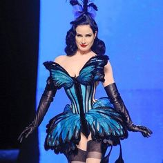 The corset from the previous photo, by Jean Paul Gaultier constructed & cinched by Mr. Pearl.