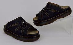 Dr Marten's Women's Shoes Size UK 6 Black Leather Slide Sandals US 8 #DrMartens #Slides #Casual