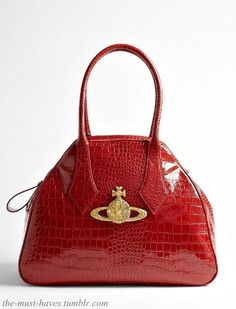 Vivienne Westwood Large Chancey Red Patent Tote