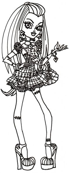 Monster High Pets Coloring Pages   Free Monster High 13 Wishes ...