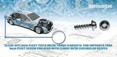 [S124]-VITE BM PLAST TESTA MEZZA TONDA FLANGIATA  CON IMPRONTA TORX - BM PLAST SCREW PAN HEAD WITH FLANGE WITH EXALOBULAR RECESS