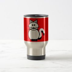 Stick Family Cat Travel Mug - family gifts love personalize gift ideas diy