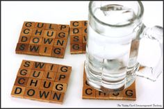 DIY Scrabble Tile Coasters - Crafts Unleashed