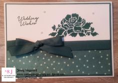 A quick wedding card with Floral Themes stamp set and using the Delightful Daisy DSP.  #weddingcards
