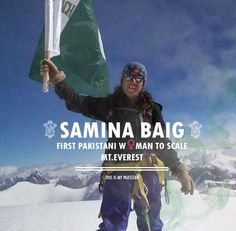 First Pakistani woman to scale MR.Everest