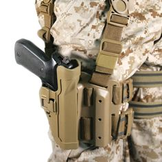 Level 2 SERPA Tactical Drop-Leg Holster for Beretta Right Hand, Coyote Tan I need this for a Glock and they don't make it in that configuration! Not happy! 1911 Holster, Tactical Holster, Tactical Gear, Holsters, Gun Holster, Airsoft, Blackhawk Tactical, Camouflage, Drop Leg Holster