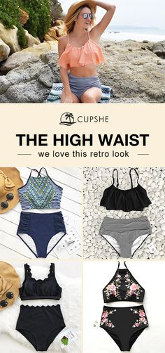 High-waist Trend Watch. Treat Yourself to Something Special. These flattery swimsuits are chic must-have items of the year! Your perfect option for a cool beach party! Come and pick your favorite one. ❥