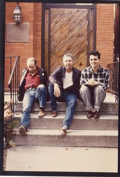 Brian Eno, Hard Budd, Daniel Lanois during recording of The Pearl