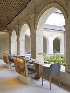The Abbaye de Fontevraud Hotel in Anjou, France | Featured on Sharedesign.com