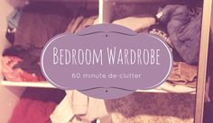 Tamed Spaces de-clutters this bedroom wardrobe in under 60 minutes showing the before, during and after process. Next step is to organise! Cluttered Bedroom, Declutter Bedroom, Bedroom Wardrobe, Getting Organized, Cupboard, Organization, Spaces, Make It Yourself, Bathroom