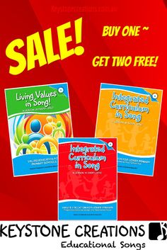 ***CLEARANCE SALE (posted within Australia Only)!*** 🎵 Buy any ONE of our 3, hard copy teacher resource books/CDs (curriculum-aligned #songs & lesson materials), get TWO books/CDs FREE!! 🎵 WHILE STOCKS LAST! ~ No more books & Cds - all of our publications are downloadable on line now, so when they're gone, they're gone!) *****************************************************#Teachers #school #curriculum #TeachingResources #integratedlearning #schoolassemblies #distancelearning ##homeschooling Values Education, Primary Education, Primary School, Teacher Books, Teacher Resources, Integrity, Curriculum, Teaching, Songs