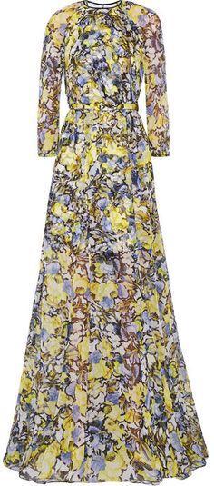 Erdem Lamara floral-print silk-chiffon gown on shopstyle.com