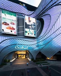 Central Bangna Shopping Center / Facade Design by Foundry of Space [FOS] Shopping Center, Shopping Mall, Consulting Firms, Facade Design, Cyberpunk, Bangkok, Futuristic, Concrete, Buildings