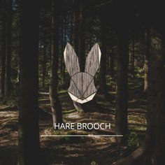 The elegant wooden Hare Brooch will compliment your outfit perfectly. Original handmade accessories made of wood.