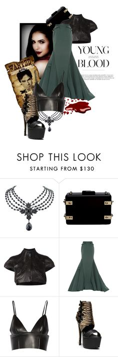 """""""Young Blood :Wanted"""" by the-house-of-kasin ❤ liked on Polyvore featuring 1928, CC SKYE, Iris van Herpen, Zac Posen, T By Alexander Wang, Steve Madden and maxiskirts"""