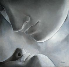 """faces from Canora's sculpture """"Psyche Revived by Cupid's Kiss"""" Jennifer Yoswa"""