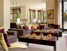 Rachel Laxer Interiors, Ltd. plum green tan