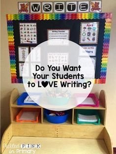 Want your students to love writing? Tickled Pink in Primary has tips to make writing more fun and ideas on how to set up a writing centerin your classroom!