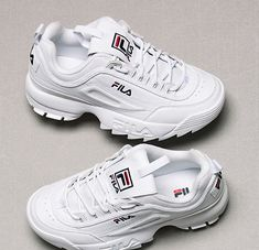 new style 9afdc 5d46c Details about FILA 2018SS DISRUPTOR II 2 WHITE FS1HTZ3071X UNISEX SHOES US  SZ 4-11