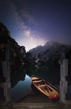 nocturnal - lago braies in the night, matrix panorama