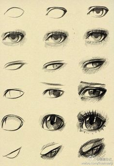 How to draw different types of eyes. -- Drawing tools, inspiration, tutorial, manga, realistic