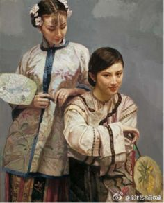 Chen Yifei 陈逸飞(1946 - 2005) was a famous Chinese Classic painter,Art director,Vision artist and Film director, and a central figure in the development of Chinese oil painting and is one of China's most renowned contemporary artists.