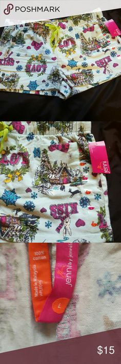 NWT Jenni bunny sleep shorts NWT Jenni by Jennifer Moore for Macy's bunny sleep shorts Macy's Intimates & Sleepwear Pajamas