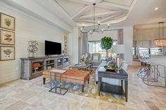 What do you think of this open concept living room space?