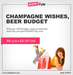 Can you create a diamond outfit with just a few lumps of coal? Then enter our new fashion mission 'Champagne Wishes... on a Beer Budget!' Three winners will each get an Amazon gift card  [contest ends 3/18] #fashion #outfit #style #contest