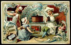 Декупаж, салфетки, заготовки, Ромалетта Vintage Cards, Vintage Images, Suchard Chocolate, Chocolates, Candy Labels, Vintage Drawing, Illustrations, Book Of Shadows, Vintage Postcards