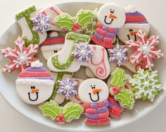Joyful Christmas Cookies - by Sweet Sugar Belle (as featured on Glorious Treats)