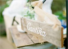 cantina wedding sign