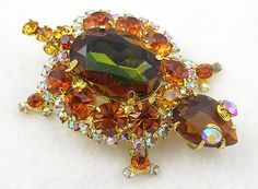 DeLizza & Elster Turtle Brooch - Garden Party Collection Vintage Jewelry