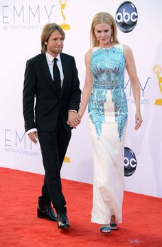 Emmys 2012: The Best of the Red Carpet - Nicole Kidman is streamlined in a sequin-detailed gown by Antonio Berardi.