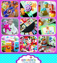 Monster Party Birthday - Monster Bash - HUGE Printable Party Set by Amanda's Parties TO GO