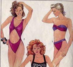 1980's cut out swimsuits - Google Search Swimsuit Pattern, Cut Out Swimsuits, Firecracker, Bandeau Bikini, Straight Cut, High Cut, Pattern Making, Diamond Cuts, One Piece