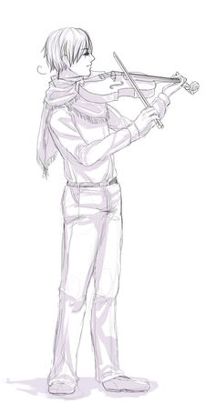 Instrument Headcanon #6 by Owyn-Sama.deviantart.com on @deviantART - Sixth in a series assigning musical instruments to Hetalia characters: Sigurd (head-canon name for Norway) with a violin. If this isn't an Alexander Rybak reference, I don't know what is - but the idea's really cool :)
