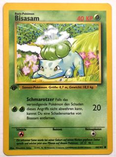 1st Edition Bisasam Bulbasaur 44/102 German
